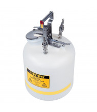 "Justrite TF12755 Polyethylene 5 Gallon Disposal Safety Can, 3/8"" Stainless Steel Fitting"