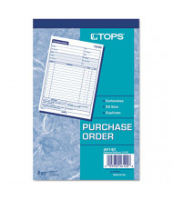 """TOPS 5-9/16"""" x 7-15/16"""" 50-Page 2-Part Purchase Order Book"""