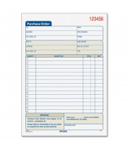 """TOPS 5-9/16"""" x 7-15/16"""" 50-Page 3-Part Purchase Order Book"""