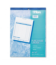"""TOPS 8-3/8"""" x 10-3/16"""" 50-Page 3-Part Purchase Order Book"""