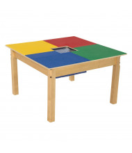 Wood Designs Time-2-Play Lego Compatible Table, Square