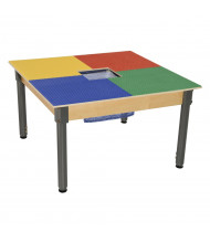 Wood Designs Time-2-Play Lego Compatible Table with Adjustable Legs, Square