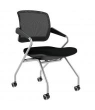 Mayline Valore TSM2 2-Pack Mesh-Back Fabric Nesting Chair (Shown in Black)