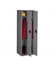 """Tennsco Single Tier 2 Wide Locker without Legs 18"""" W x 21"""" D x 72"""" H (Shown in Medium Grey)"""