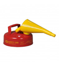 Eagle Type I 2 Quart Galvanized Steel Metal Safety Can with F-15 Funnel (red)