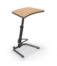 Balt Up-Rite Adjustable Height Sit Stand Workstation (Shown in Castle Oak)