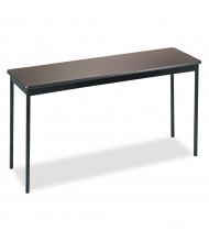 "Barricks 60"" W x 18"" D Laminate Utility Table, Walnut"