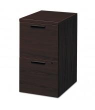 HON 105104NN 2-Drawer File/File Mobile Pedestal, Mahogany