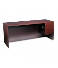 """HON 10500 72"""" W Single Pedestal Credenza Office Desk, Right"""