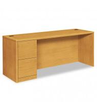 """HON 10700 72"""" W Single Pedestal Credenza Office Desk, Left"""