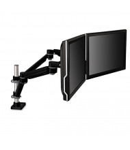 """3M 27"""" H Easy-Adjust Desk Mount Monitor Arms For Monitors Up To 27"""", Black/Gray"""
