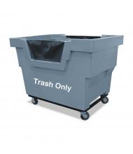 "Royal Basket Trucks Trash Only Mail Truck, 1000 Lb Load, 4"" Casters"
