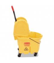 "Rubbermaid Commercial 36.5"" H x 15.75"" W WaveBrake Bucket/Wringer 35 qt., Yellow"
