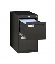 """Tennsco V282-MF 2-Drawer 28"""" Deep Vertical File Cabinet, Letter - Black"""