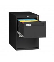 """Tennsco V282C-MF 2-Drawer 28"""" Deep Vertical File Cabinet, Legal - Black"""