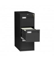"""Tennsco V283-MF 3-Drawer 28"""" Deep Vertical File Cabinet, Letter - Black"""