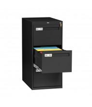 "Tennsco 3-Drawer 28"" Deep Vertical File Cabinet, Legal (Shown in Black)"