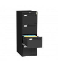"Tennsco 4-Drawer 28"" Deep Vertical File Cabinet, Legal - Black"