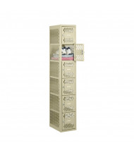 """Tennsco Ventilated Assembled 6-Tiered Box Locker 1 Wide Unit-12"""" W x 18"""" D x 72"""" H without Legs (Shown in Putty)"""