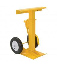 """Vestil 41"""" to 55"""" Hand Crank Trailer Stabilizing Jack Stand 100,000 lb Static Load, Pneumatic Wheels"""