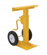 """Vestil 41"""" to 55"""" Hand Crank Trailer Stabilizing Jack Stand 100,000 lb Static Load, Solid Foam Wheels"""