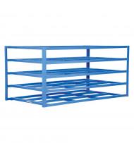 "Vestil 54"" W x 102"" D x 48"" H 5-Shelf Horizontal Sheet Rack"