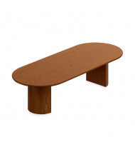 """Offices to Go 120"""" Racetrack Conference Table (Shown in Toffee)"""