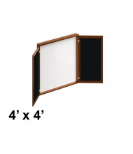 Offices to Go Ventnor 4 W x 4 H Presentation Conference Room Cabinet (Shown in Toffee)