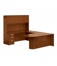 Offices to Go Ventnor VF-A U-Shaped Peninsula Office Desk Set (Shown in Toffee)
