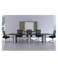 Cherryman Verde 8 ft Boat-Shaped Conference Table (Shown in 14 foot model, Espresso)