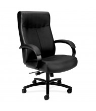 HON Validate Big and Tall Leather Executive Chair, Black