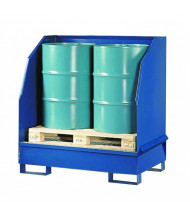 Vestil VSRB-WS-2 Two Drum Spill Containment Basin, 1200 lb Load