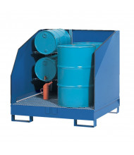 Vestil VSRB-WS-4 Four Drum Spill Containment Basin, 2400 lb Load (Arm Shelf Not Included)