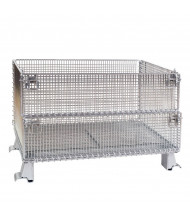 Vestil 1000 to 4000 lb Capacity Steel Wire Mesh Container (VWIRE-32H shown)