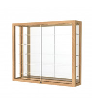 Waddell Heirloom 8903K Wall Display Case (Shown as Natural Oak / Mirror Back)