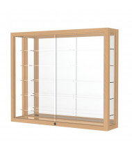 Waddell Heirloom 8903M Hardwood Wall Display Case (Shown as Maple / Mirror Back)
