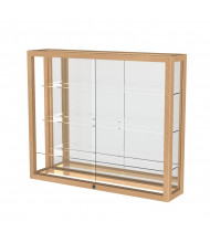 "Waddell Heirloom 890K Series Wall Display Case 36""W x 30""H x 8""D (Shown as Natural Oak / Mirror)"