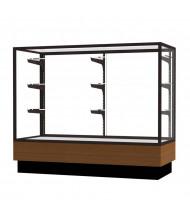 """Waddell Merchandiser 2010-4 Series Store Retail Counter Display Case 48""""W x 40""""H x 20""""D (Shown in Light Oak/Dark Bronze)"""