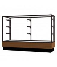"""Waddell Merchandiser 2010-5 Series Store Retail Counter Display Case 60""""W x 40""""H x 20""""D (Shown in Light Oak/Dark Bronze)"""