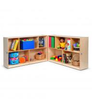 "Whitney Brothers 24"" H Mobile Folding Classroom Storage Unit"