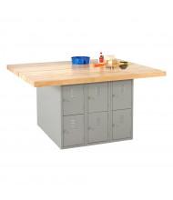 Diversified Woodcrafts Maple Top Storage Locker Workbench