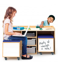 Whitney Brothers Storage Tray Activity Desk And Mobile Bins Set