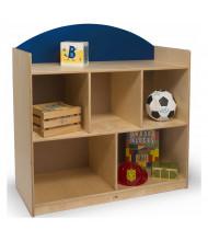Whitney Brothers Rainbow Storage 5-Section Preschool Storage Unit, Blue