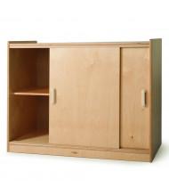 Whitney Brothers Sliding Door Storage Cabinet