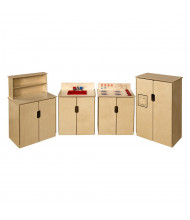 Wood Designs Tip-Me-Not Appliances Dramatic Play Set (Shown in Red)