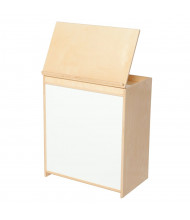"""Wood Designs Classroom Book Display and Whiteboard, Birch, 28"""" H x 24"""" W x 15"""" D"""
