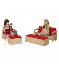 Wood Designs Classroom Seating Set (Shown in Red)