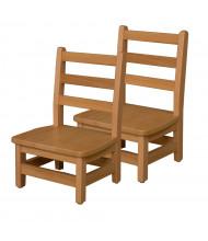 "Wood Designs 8"" H Hardwood Ladderback Classroom Chair, 2-Pack"