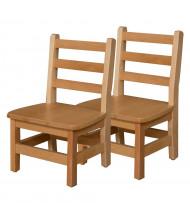 "Wood Designs 10"" H Hardwood Ladderback Classroom Chair"