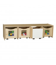 "Wood Designs 60"" W x 16"" H Mobile Storage Bench"